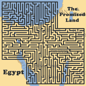 Egypt to the Promised Land Maze