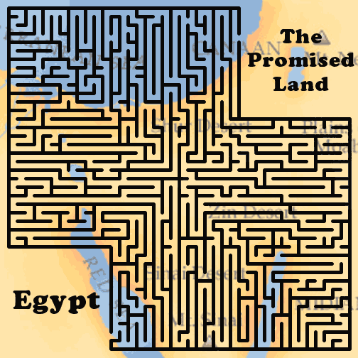 Lyrics, Chords and More » Egypt to the Promised Land Maze ...