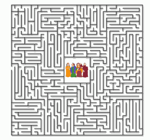 Lot and His Family Maze